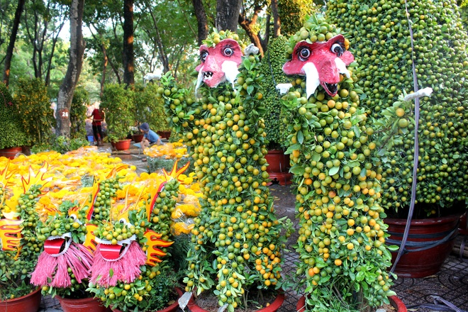 Kieng la hoi ngo o cho hoa Tet Sai Gon hinh anh 5