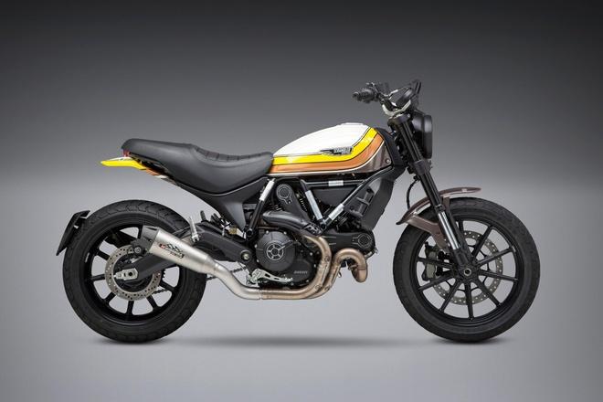 Yoshimura ra mat ong xa the thao cho Ducati Scrambler, tang 3% ma luc hinh anh 1
