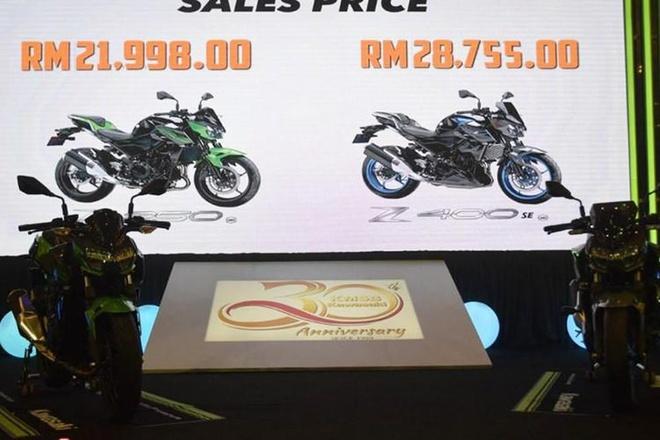 Kawasaki ra mat bo doi Z250 va Z400 SE 2019 dung chung thiet ke hinh anh 9