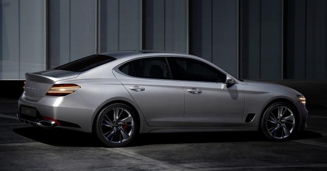 Genesis G70 2020 ra mat canh tranh voi Mercedes-Benz C-Class anh 2