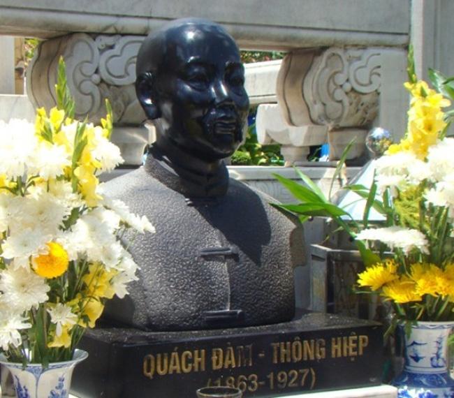 Ai dung sau nhung thuong hieu Viet vang bong the ky 20? hinh anh 1 Tượng ông Quách Diễm (Quách Đàm).