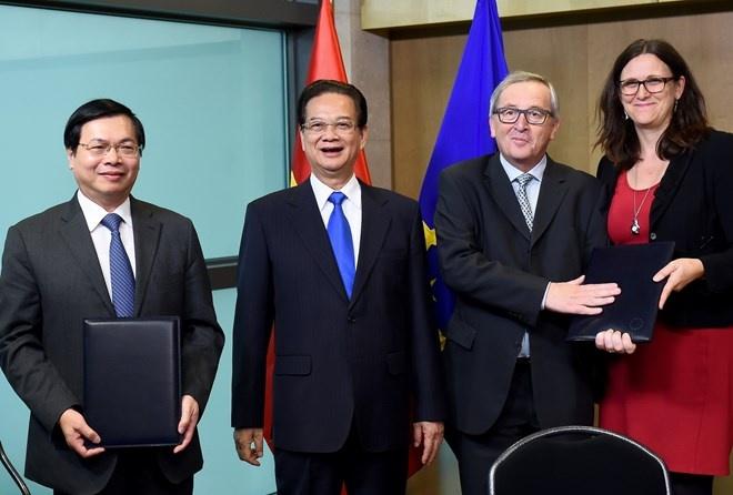 Chinh thuc ky ket FTA Viet Nam - EU hinh anh