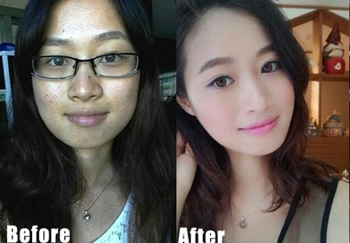 Sự khác biệt hoàn toàn của các cô gái sau khi sử dụng phần mềm chỉnh sửa ảnh  Camera 360.