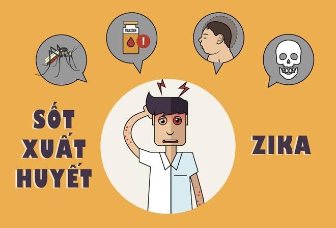 Benh do virus Zika va sot xuat huyet khac nhau the nao? hinh anh