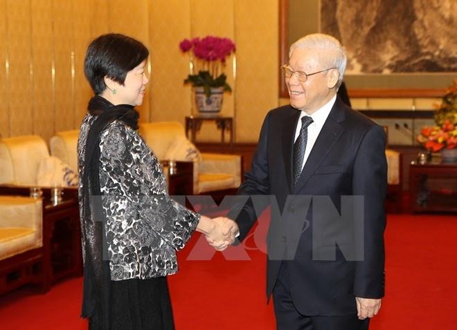 Tong bi thu tiep doan Hoi Huu nghi Doi ngoai Nhan dan TQ hinh anh