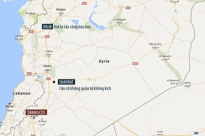 Syria kip so tan may bay truoc cuoc khong kich cua My hinh anh 1