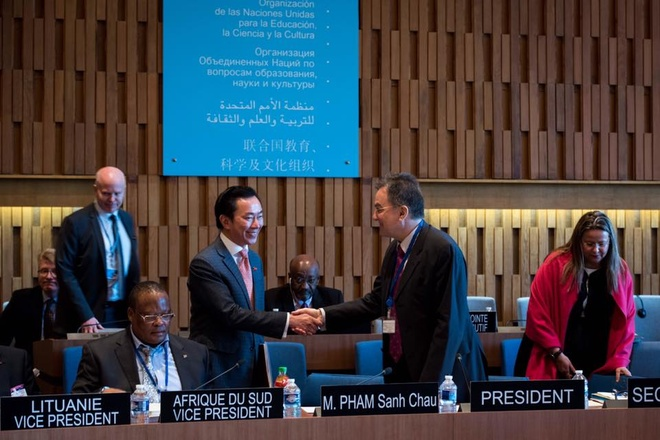 DS Pham Sanh Chau vao vong 3 tranh cu Tong giam doc UNESCO hinh anh 2