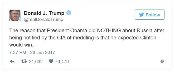 Trump to Obama thong dong voi Nga anh 1