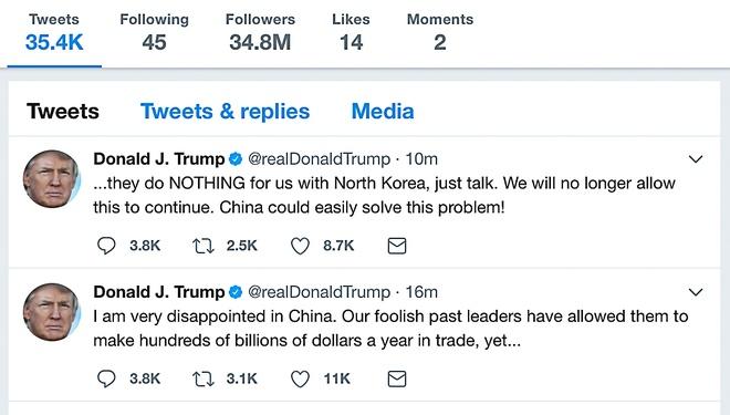 TT Trump 'that vong' khi Trung Quoc khong lam gi ve Trieu Tien hinh anh 1