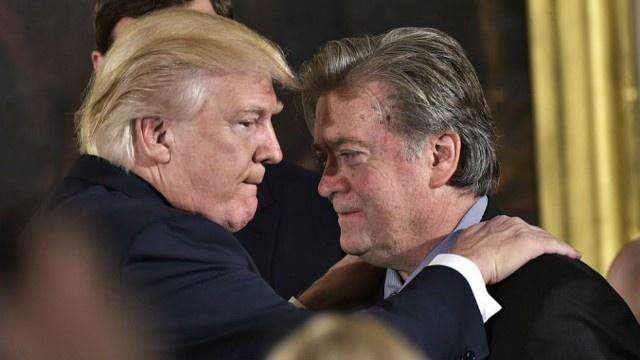 Ong Trump noi cam on sau khi sa thai 'canh tay phai' Bannon hinh anh 1