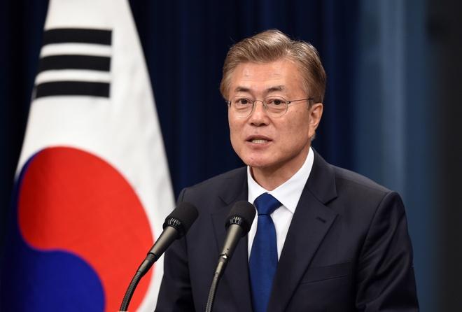 Tong thong Han Quoc se gap em gai Kim Jong Un ben le Olympics hinh anh 1