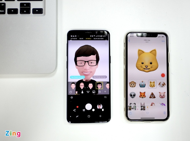 AR Emoji tren Galaxy S9 do 'than thai' voi Animoji cua iPhone hinh anh