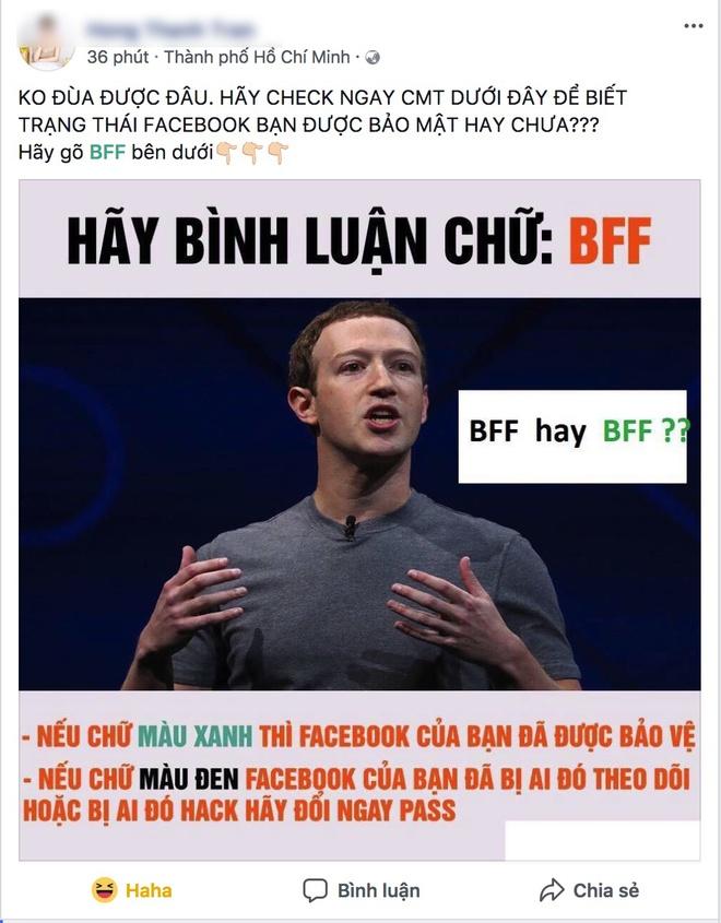 Dan mang dinh tro lua binh luan 'BFF' de xac minh Facebook hinh anh 1