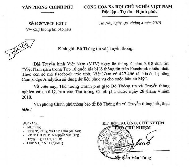 Thu tuong yeu cau xu ly vu nguoi dung Facebook Viet bi lo thong tin hinh anh 1