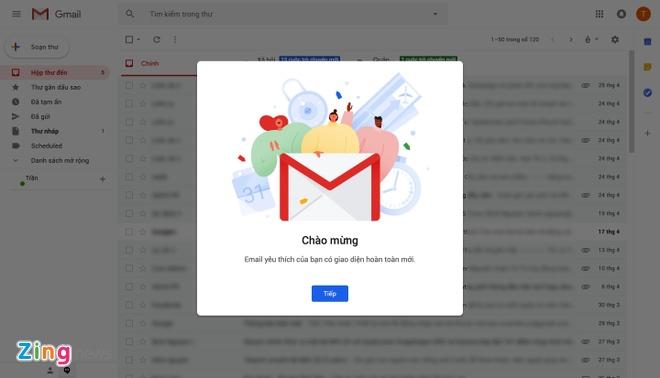 Cach chuyen doi sang giao dien Gmail moi hinh anh 1