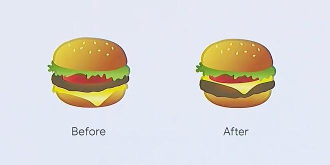 CEO Google xin loi vi thiet ke sai emoji chiec Hamburger hinh anh 1