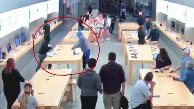 2 vu cuop Apple Store tao bao xay ra lien tiep tai My hinh anh