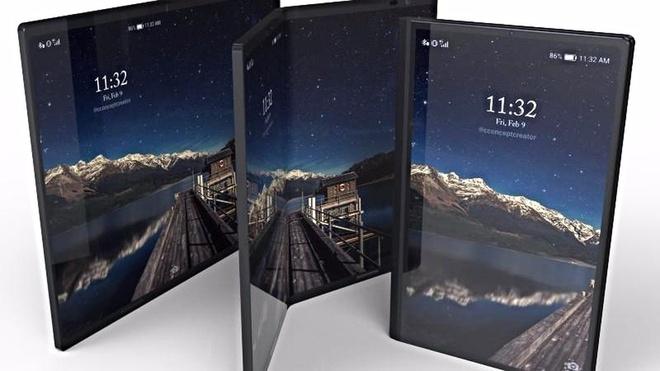 Samsung sap ra smartphone man hinh gap? hinh anh