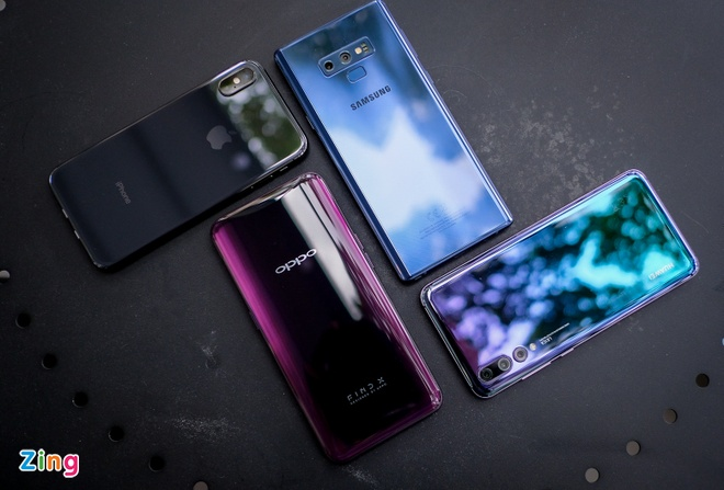 Nen chon Oppo Find X, Huawei P20 Pro, iPhone X hay Galaxy Note9 ? hinh anh