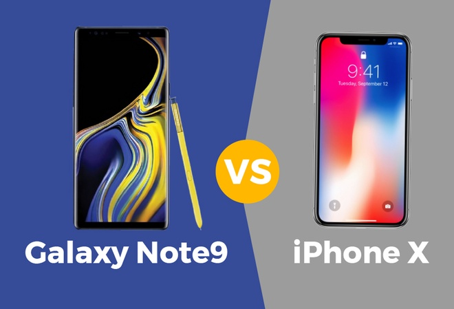 Galaxy Note9 do thong so voi iPhone X hinh anh