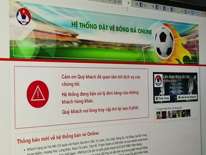 Website ban ve kieu cua VFF gia chua toi 20 trieu dong hinh anh