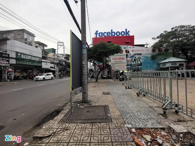 Trụ sở có bảng hiệu Facebook xuất hiện giữa lòng TP.HCM.