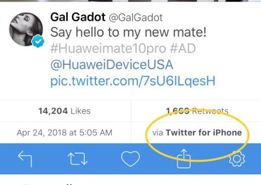 Huawei dang tweet chuc mung nam moi bang iPhone hinh anh 2