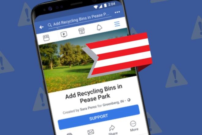 Tính năng Community Actions có thể khiến Facebook gây bất ổn chính trị nếu không kiểm soát được.