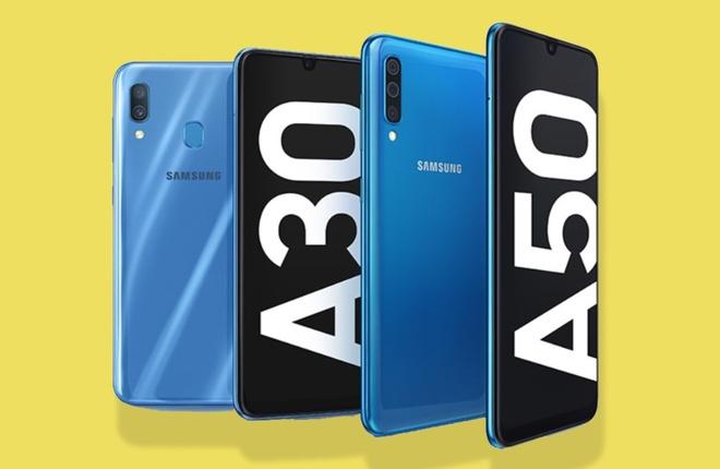 Samsung bat ngo ra Galaxy A30 va A50: Man giot nuoc, van tay duoi kinh hinh anh 1