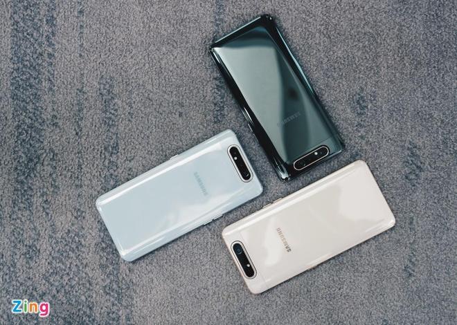 Anh chi tiet Galaxy A80: Camera truot xoay, hop lam vlog, livestream hinh anh 10