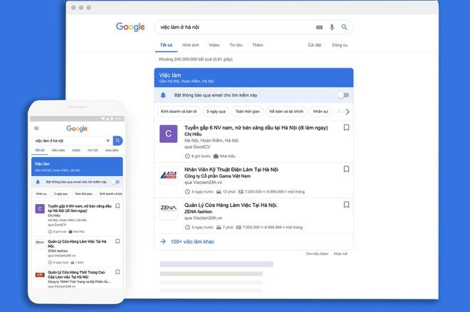 Google tung cong cu tim kiem viec lam tai Viet Nam hinh anh 1