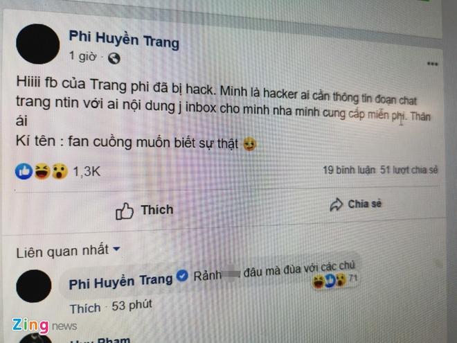 Facebook Phi Huyen Trang bi hack, de doa lo clip nong hinh anh 2