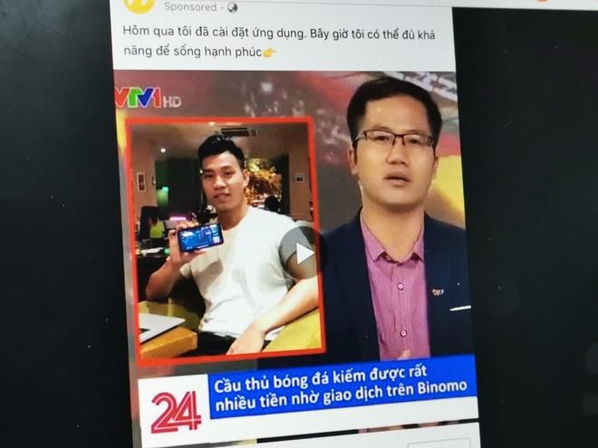 Mao danh VTV dang bai Van Thanh U23 VN quang cao ca cuoc Binomo hinh anh 1