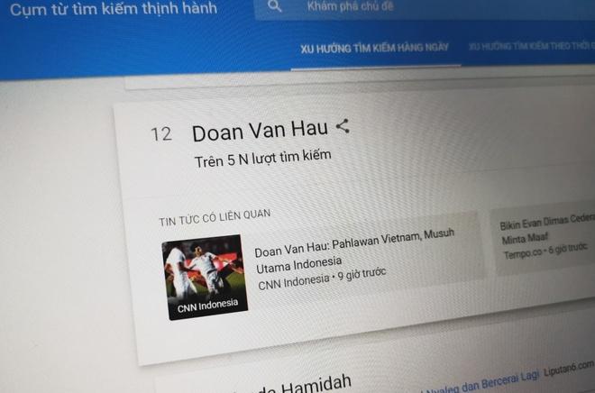 Nguoi Indonesia 'truy tim' Doan Van Hau sau tran thua U22 Viet Nam hinh anh 1
