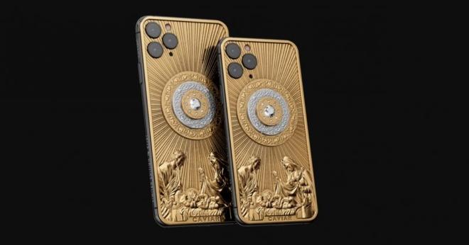 iPhone 11 Pro Max ban Giang Sinh ma vang, kim cuong gia 140.000 USD hinh anh 1