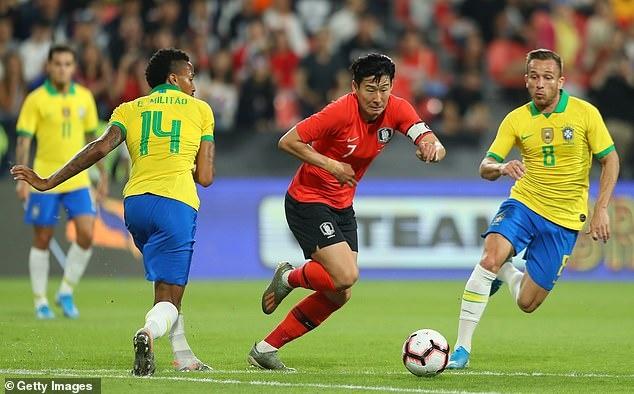 Son Heung-min không thể giúp Hàn Quốc có bàn thắng danh dự. Ảnh: Getty Images.