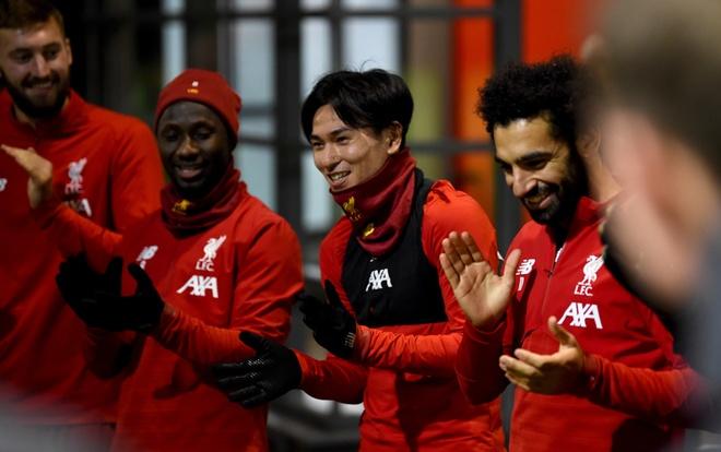 Minamino co buoi tap dau tien cung Liverpool ngay dau nam 2020 hinh anh 1 takumi_minamino.jpg