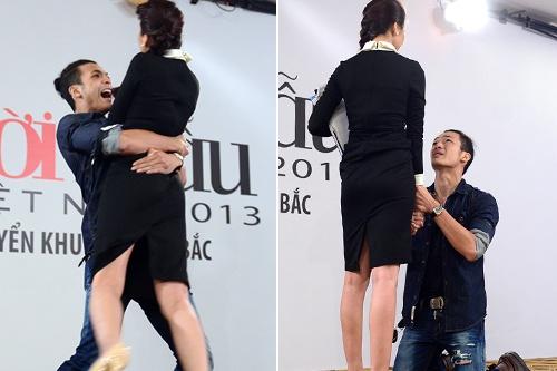 Hot boy Top Model het om lai quy goi cau xin Thanh Hang hinh anh
