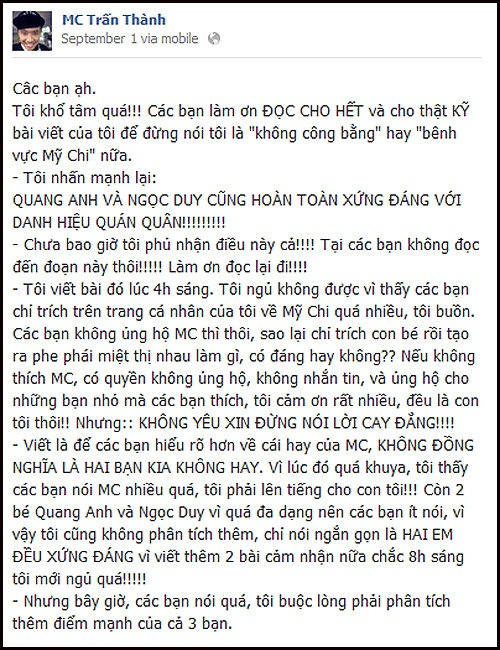 Tran Thanh 'mo xe' 3 nhoc hot nhat The Voice Kids hinh anh 2
