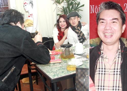 Ban trai dai gia hao hung chup hinh cho Thanh Thao hinh anh