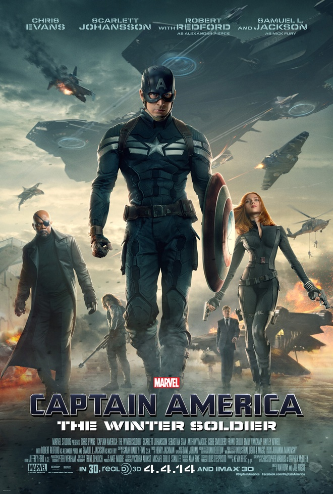 'Captain America 2' tung loat poster an tuong hinh anh 1