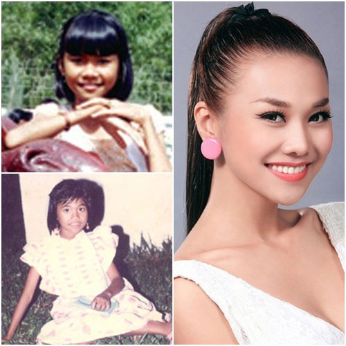 Anh thoi den nhem cua sieu mau Thanh Hang hinh anh 1 Thời thơ ấu của ngôi sao hạng A showbiz Việt - Thanh Hằng.