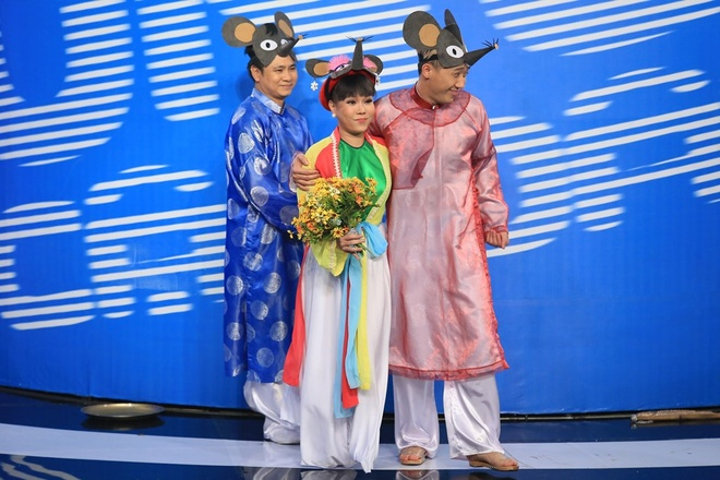 Tran Thanh che ngoai hinh Truong Giang tren san khau hai hinh anh 4