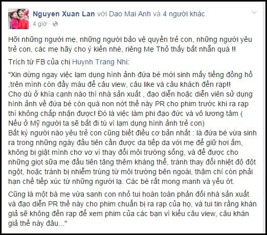 Hieu Hien noi ve viec con gai moi sinh 6 tieng dong phim hinh anh 2