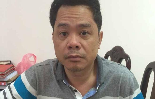 Nguyễn Tiến Dũng tại cơ quan công an.