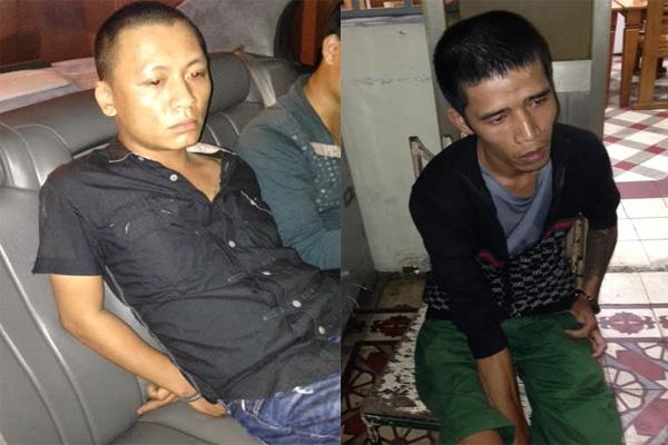 Giang ho truy sat lam nan nhan liet giuong bi bat o Sai Gon hinh anh 1 Hai tên giang hô bị bắt khi trốn ở TP HCM. Ảnh: Cơ quan công an cung cấp.
