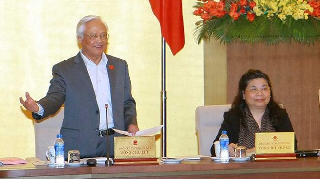 Phai dam bao quyen cua nguoi bi tam giam hinh anh 1 Phó chủ tịch Quốc hội Uông Chu Lưu phát biểu về dự án Luật tạm giữ, tạm giam - Ảnh: TTXVN
