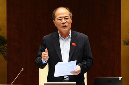 Ong Nguyen Sinh Hung trao giai bao chi 70 nam Quoc hoi VN hinh anh