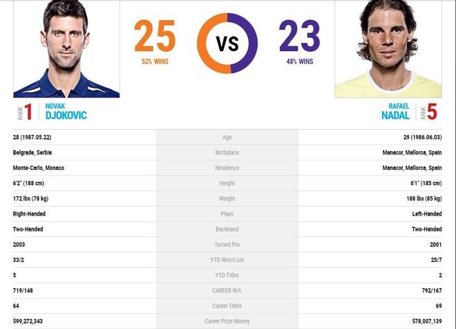 Nadal vs Djokovic: Ke ngang duong da san sang hinh anh 4