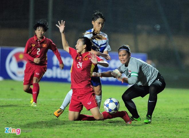 Thang Singapore 8-0, nu Viet Nam co them mot buoi tap tan cong hinh anh 2